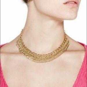Jewelmint Gold Chain Bib Necklace